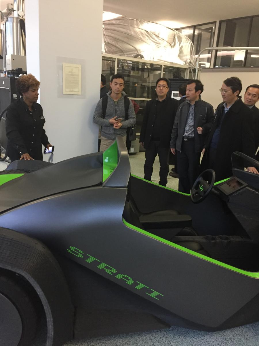 Anhui group visits 3D printing car manufacturer Local Motors