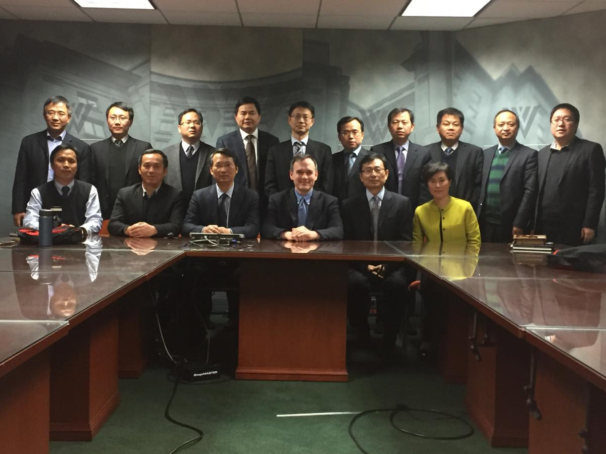 Anhui delegation meets with Director of Kissinger Institute, Rober Daly, to discuss the future of U.S.-China relations  under a Trump administration.